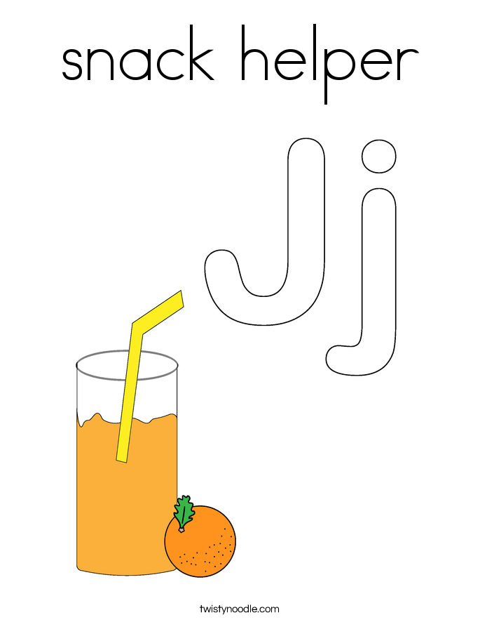 snack helper Coloring Page