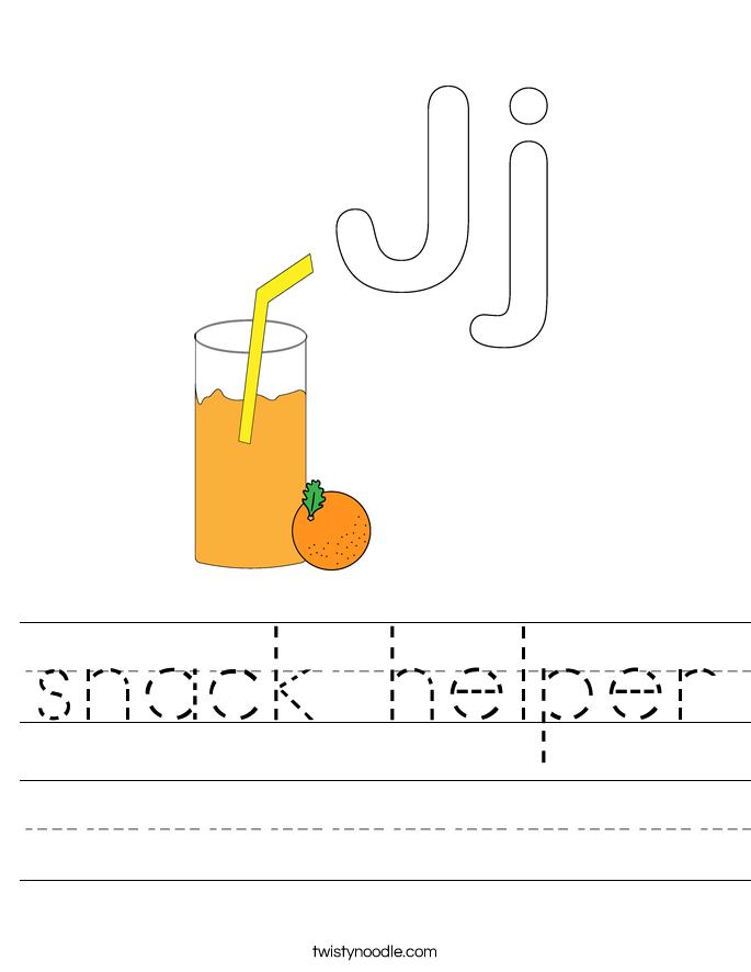 snack helper Worksheet