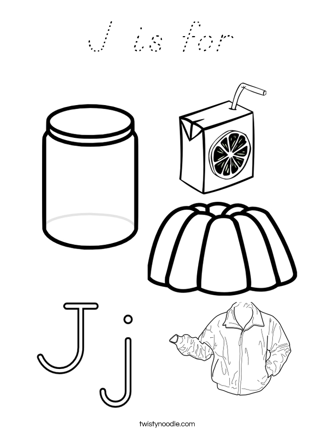 J is for  Coloring Page