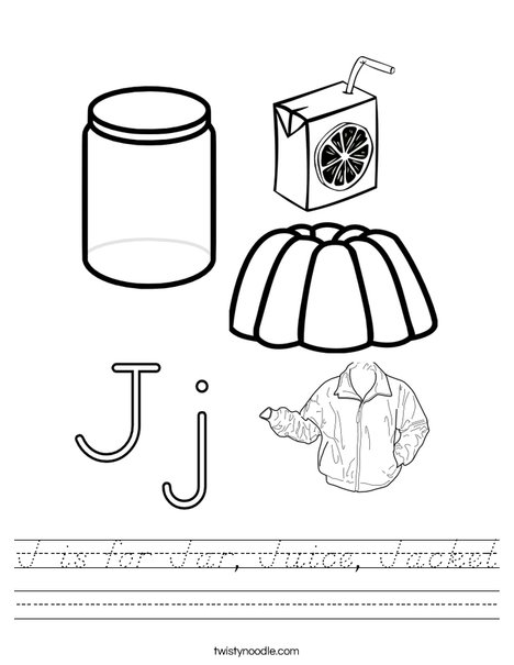 J is for Worksheet