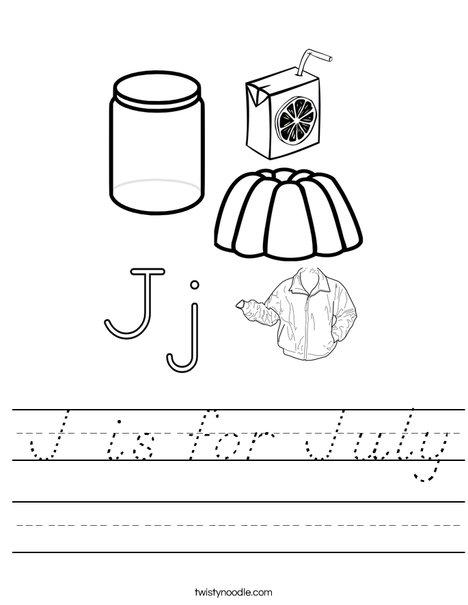 J is for Worksheet