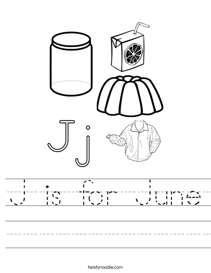 J is for June Worksheet
