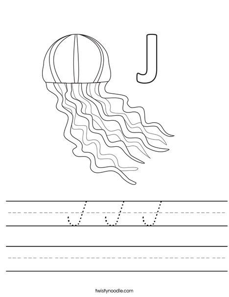 J Jellyfish Worksheet