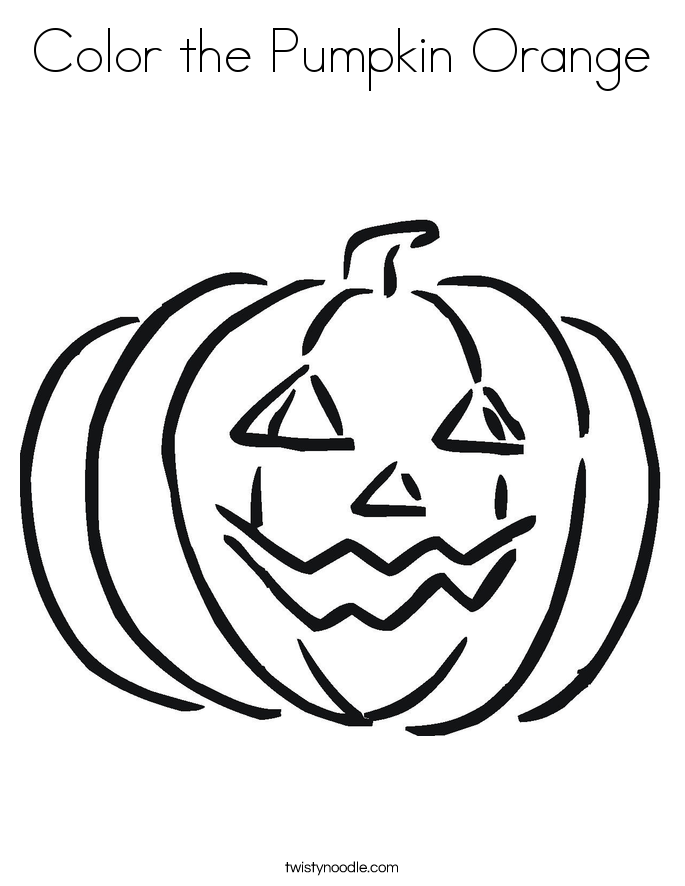 Color Orange Coloring Page Color The Pumpkin Orange