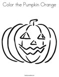 Color the Pumpkin OrangeColoring Page