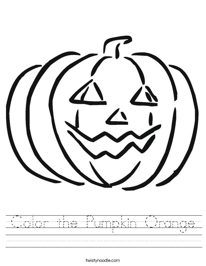 Color the Pumpkin Orange Worksheet