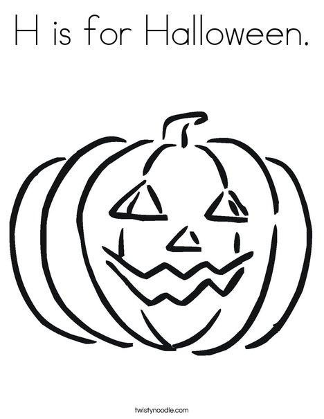 h is for halloween coloring pages - photo #1