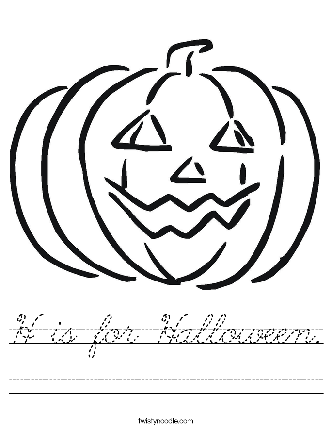 H is for Halloween. Worksheet