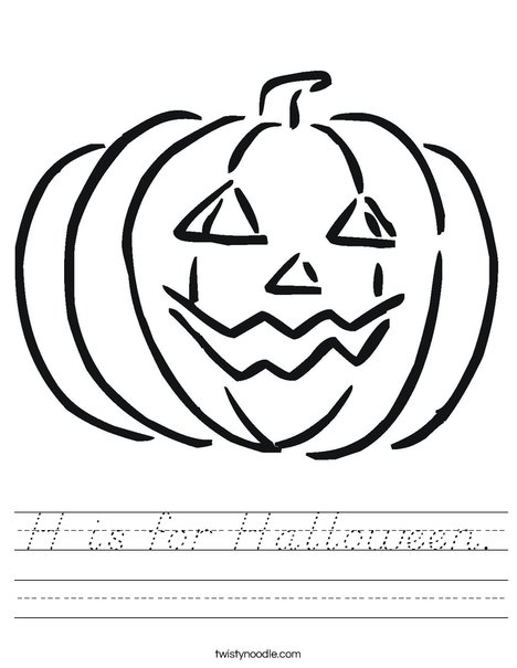 Happy Jack O' Lantern Worksheet