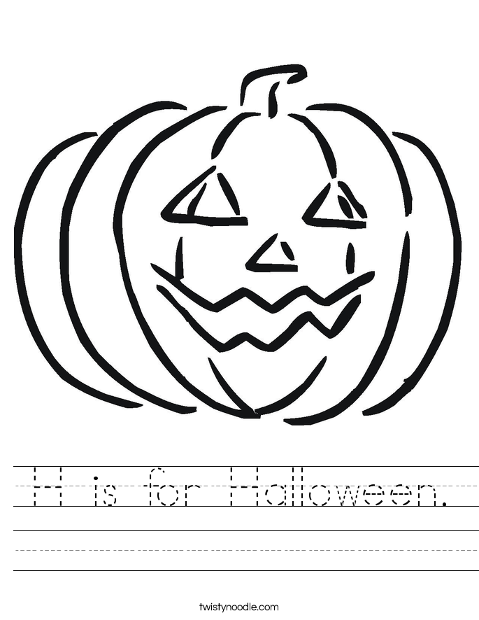 H is for Halloween Worksheet Twisty Noodle – Halloween Worksheet