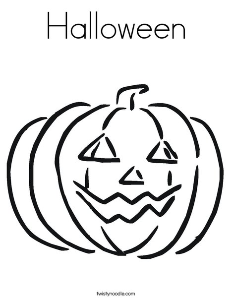 Happy Jack O' Lantern Coloring Page