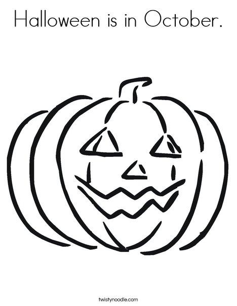 Happy Jack O' Lantern Coloring Page
