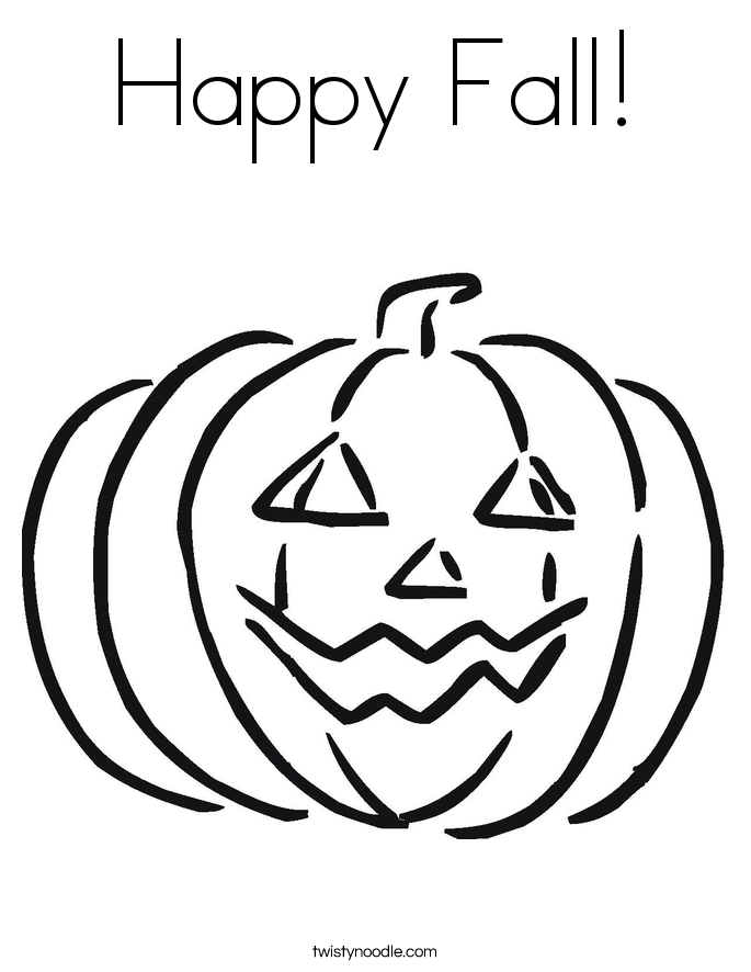 Happy Fall! Coloring Page