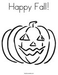 Happy Fall!Coloring Page
