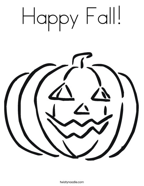 Happy Fall Coloring Page - Twisty Noodle