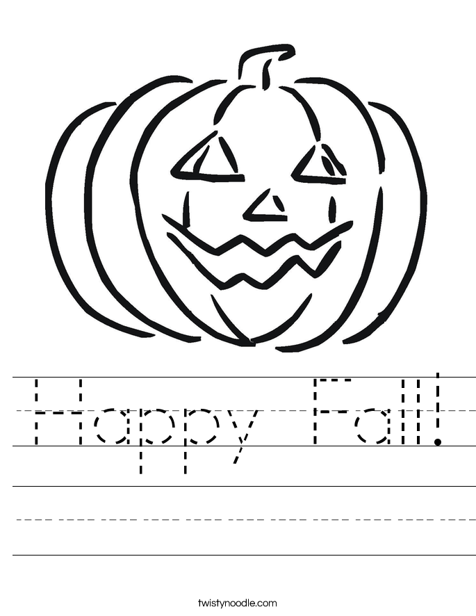 Happy Fall! Worksheet