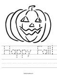 Happy Fall! Worksheet