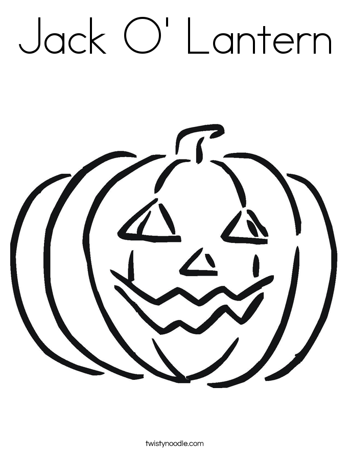 Jack O Lantern Coloring Page Twisty Noodle Lantern Coloring Page