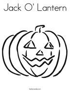 Jack O' Lantern Coloring Page