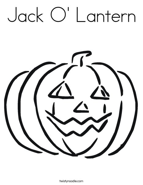 - Jack O' Lantern Coloring Page - Twisty Noodle