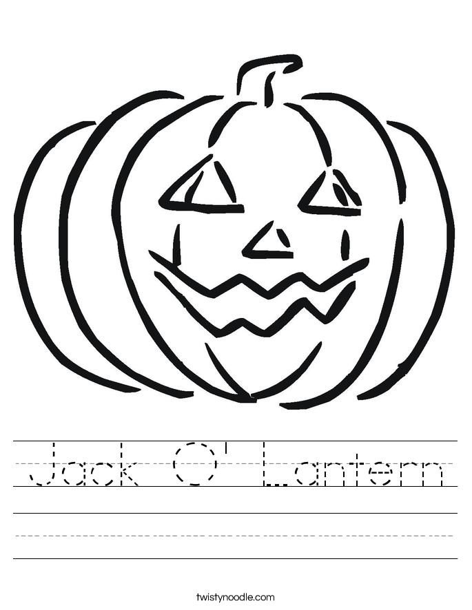 Jack O' Lantern Worksheet - Twisty Noodle