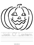 Jack O' Lantern Worksheet