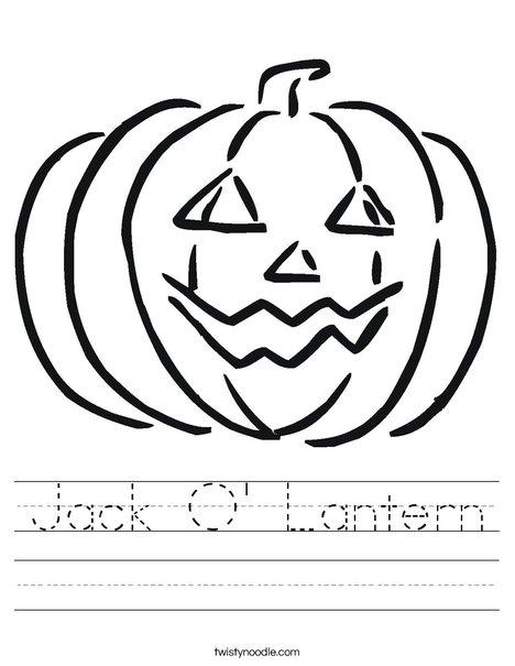 Happy Jack O Lantern Worksheet