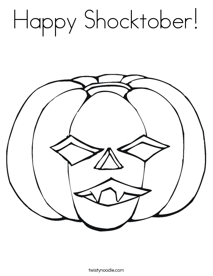Happy Shocktober! Coloring Page
