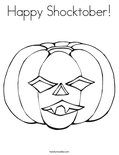Happy Shocktober!Coloring Page