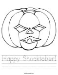 Happy Shocktober! Worksheet