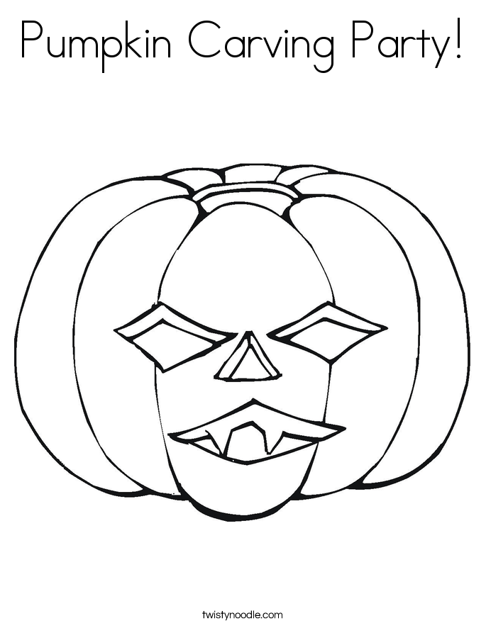 Pumpkin Carving Party! Coloring Page