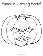 Pumpkin Carving Party Coloring Page