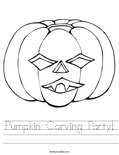 Pumpkin Carving Party! Worksheet