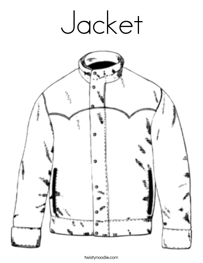 coloring pages of winter coat - photo#34