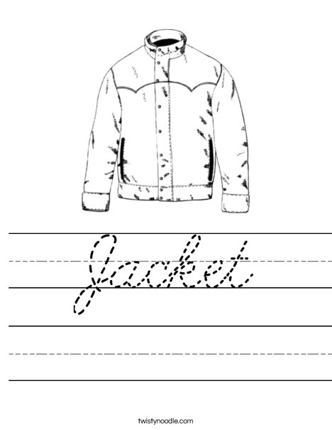 Jacket Worksheet