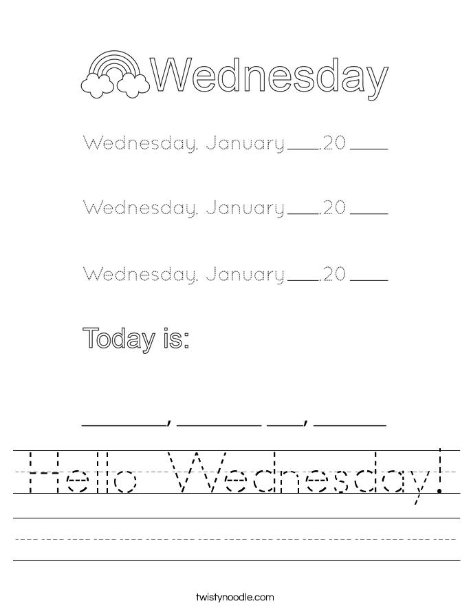 Hello Wednesday! Worksheet