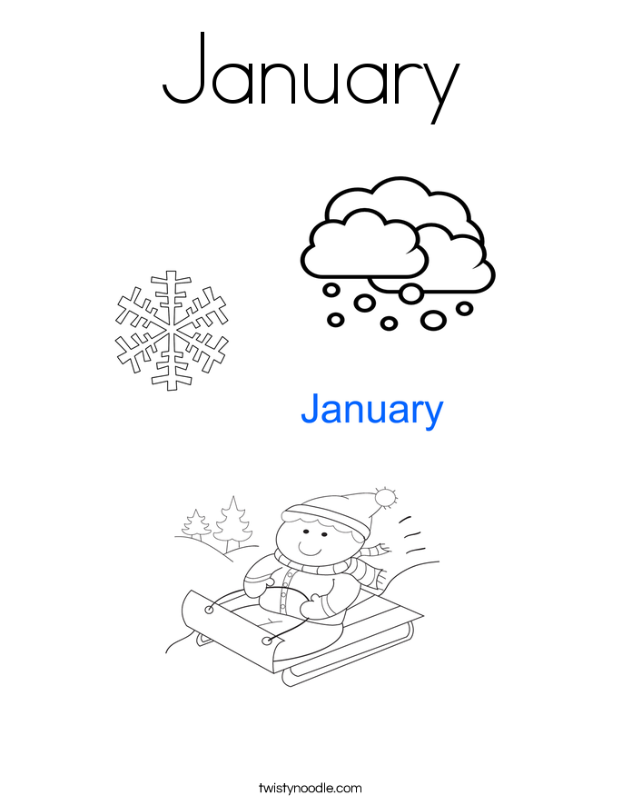 Coloring Pages For The Month Of January Coloring Pages January Color Pages