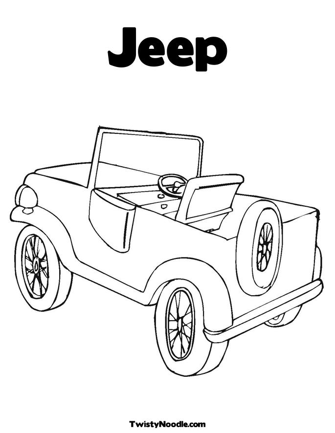 lifted jeep pages colouring pages