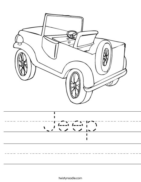 Jeep Worksheet