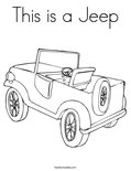 This is a Jeep Coloring Page