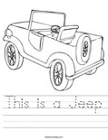 This is a Jeep Worksheet