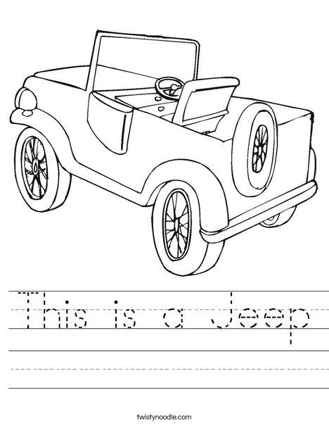 Jeep Worksheet