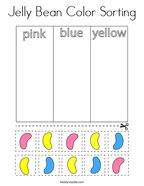 Jelly Bean Color Sorting Coloring Page