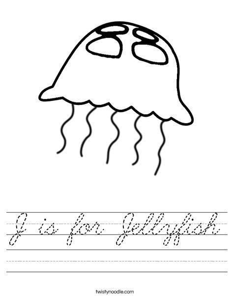 Jellyfish Worksheet