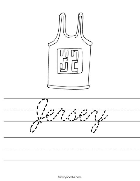 Jersey Worksheet