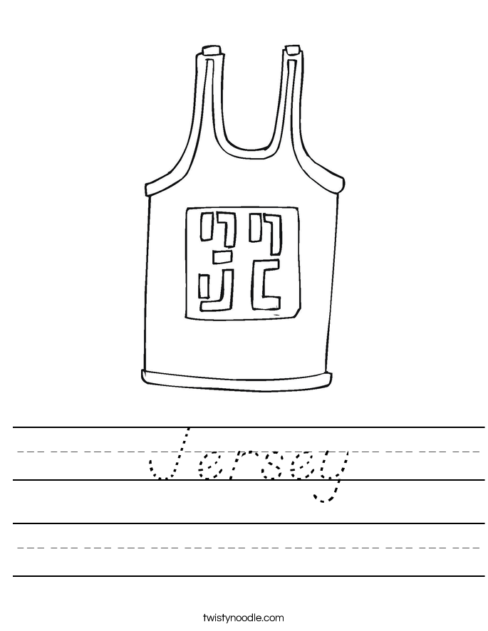 Jersey Worksheet