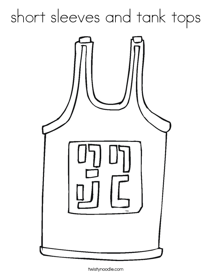 short sleeves and tank tops Coloring Page
