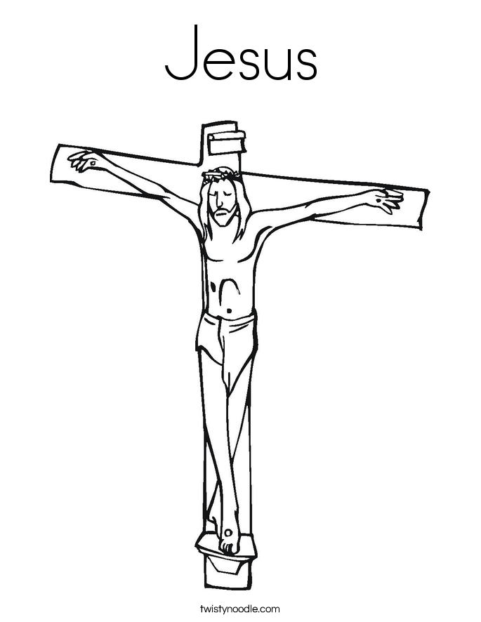 jesus cross coloring pages - photo#4