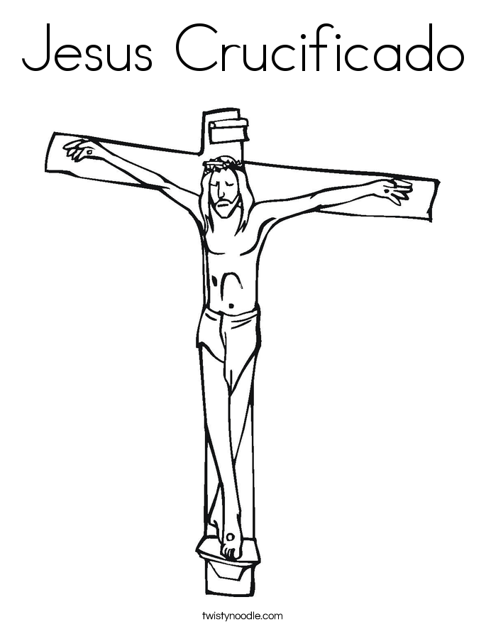 Jesus Crucificado Coloring Page
