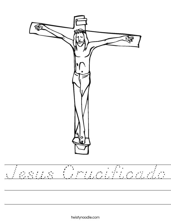 Jesus Crucificado Worksheet